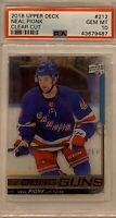 2018 2019 UPPER DECK Neal Pionk PSA 10 YOUNG GUNS CLEAR CUT ACETATE RC ROOKIE