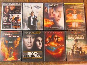 10 -  NICOLAS CAGE - DVD Movie Collection Set  (Lot A592)
