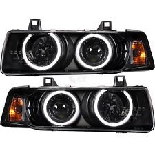 Scheinwerfer Set BMW E36 Limousine Touring CCFL Angel Eyes H1 H3 klar schwarz