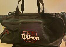 Vintage Wilson Large Sports Tennis Green Black Duffel Bag