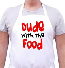 Funny Novelty Apron Dude With The Food Mans Cooking Aprons For Men, Chef Aprons