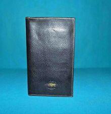 portefeuilles chéquier GIL HOLSTER avec poches et cartes en cuir noir neuf