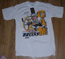 Boston Bruins Cam Neely 1990 Salem Sportswear T-Shirt men's size-Large LB auto!