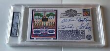 Steve Garvey Davey Lopes Ron Cey Bill Russell Signed Cachet Envelope PSA/DNA