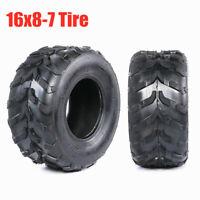 2PCS 16x8-7 Knobby Tire 16x8.00-7 Heavy Duty Tyre For 4 Wheeler ATV Mower Buggy