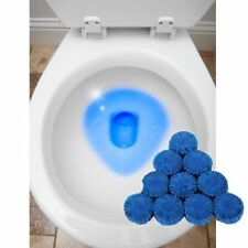24 Automatic Bleach Toilet Bowl Cleaner Stain Remover Blue Tab Tablet Flush Tank