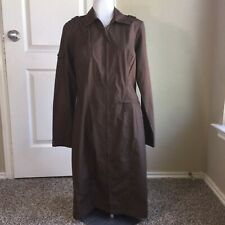 TOGETHER Brown Zip Up Pencil Safari Style Work Career Long Sleeve Dress Size 6