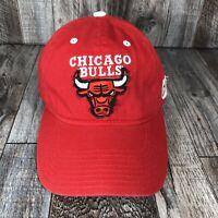 Chicago Bulls NBA Basketball Adidas Hat Cap Red White Strapback Adjustable OSFA