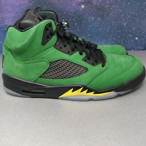"Nike Air Jordan Retro 5 Oregon SE ""Apple Green"" Size 15 CK6631-307 no lid DS"