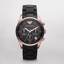 Emporio Armani Black/Rose Gold Quartz Analog Unisex Watch AR5906