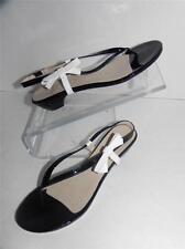 Amalfi by Rangoni Rasora Black White Slingback Patent Leather Sandals 10