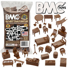 BMC Marx Old West Hotel & Jail Western Town Playset Furniture & Accessories