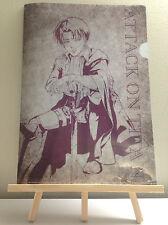 Attack On Titan season 2 Levi seven limited Illustration A4 Clear Japan anime