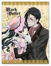 Black Butler Ciel & Sebastian Dresses Sublimation Throw Blanket NEW!