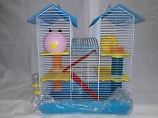 Hamster Cage The Two Level Habitat Also Comes With A Food Dish Exercise Wheel