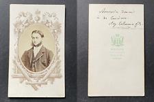 Mevius, Rennes, Homme nommé Collmann fils, circa 1870 vintage cdv albumen print