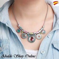 Collar Colgante Multicolor Estilo Étnico Tipo Desigual Regalo ideal Mujer