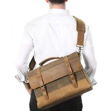"""Lifewit 15.6"""" Men Messenger Bag Vintage Canvas Leather Shoulder Laptop Handbag"""