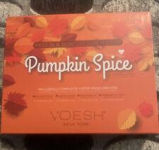 Voesh Pumpkin Spice Pedi in a Box- 2 Complete 4 Step Pedicure Kits,New In Box