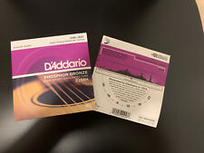 2 Sets, D'Addario EJ38H Acoustic Guitar Strings Nashville Tuning 10-27