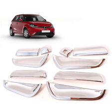 Fit 2015-2016 MG3 4 Door Handle Hand Bowl Housing Cover Coloer Chrome 1 Set