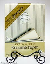 Southworth Resume Paper & Envelopes 100% Cotton 24lb Ivory Open Box