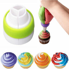 Icing Piping Bag Russian Nozzle 3-Color Converter Coupler Cake Cream Decor Tool