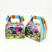 6pcs/lot Candy Box Cake Box for Kids Trolls Theme Party Baby Shower Party Decora