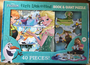 Disney Frozen First Look and Find Book & Giant Puzzle  -  NEW