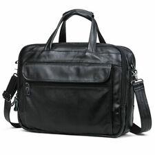 Herren Leder Aktentasche 15'' Laptop Umhängetasche Schultasche Messengertasche