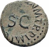 CLAUDIUS Authentic 42AD Rome Food MODIUS Original Ancient Roman Coin i74831