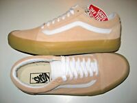 Vans Mens Old Skool Double Light Gum Apricot White Suede Skate shoes Size 8.5