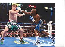 FLOYD MAYWEATHER JR vs SAUL ALVAREZ 8X10 PHOTO BOXING PICTURE