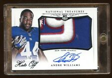 ANDRE WILLIAMS NATIONAL TREASURES RC AUTO #D 2/6 HATS OFF BEAUTIFUL GIANTS RB !