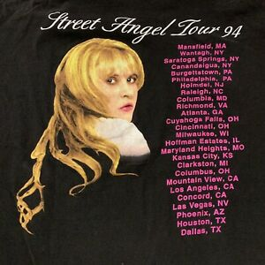 Stevie Nicks Street Angel Tour 1994 T Shirt Fleetwood Mac Single Stitch Men's XL
