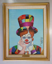"RED SKELTON LITHOGRAPH PAINTING, ""CRAZY QUILT CLOWN"", NUMBERED & SIGNED w/ COA"