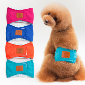 Pet Diapers Physical Pant Dog Cat Plain Belly Band Underwear Briefs Nappy S-XL