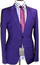 Bnwt homme paul smith ps london deep purple carreaux sur mesure ajustée costume 36R W30