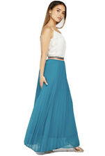 Pleated Maxi Skirt Lurex Waist Band Bnwt Size 12