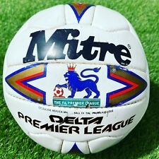 1990s MITRE DELTA PREMIER LEAGUE FOOTBALL - SIZE 5 - (NOT ULTIMAX OR PRO MAX)