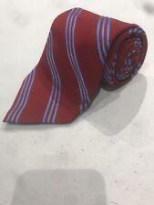Brooks Brothers Men's Red Stripe Pattern Silk Neck Tie