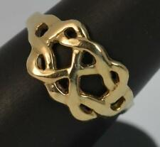 Large Solid 9 Carat Yellow Gold Ring of Puzzle Design