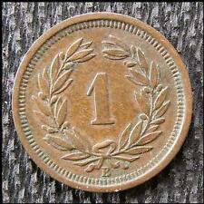SWITZERLAND COIN 1 RAPPEN ONE  1879 B
