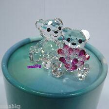 Swarovski My Sweetheart Kris Bear-2014 Love Flower Crystal Figurine MIB -5004526