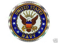 """United States Navy 3"""" Round Seal Sticker Decal Armed Forces Military"""