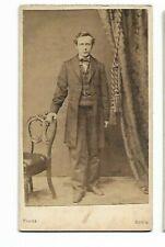 Vintage CDV- Unidentified Gentleman - Photo by Knecht, Easton, PA (3591)