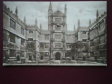 POSTCARD OXFORDSHIRE OXFORD - BODLEIAN LIBRARY & SCHOOL