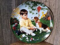 "Vintage Collector Plate ""Wednesday's Child"" Danbury Mint G3"