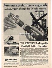 1960 Sonotone Rechargeable Flashlight Battery Cartridge Vtg Print Ad