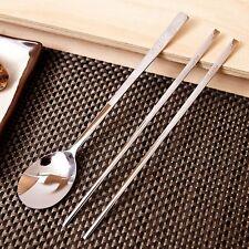 Korean Stainless Steel Spoon and Chopsticks Set Iljin Cookware - Turtle Pattern